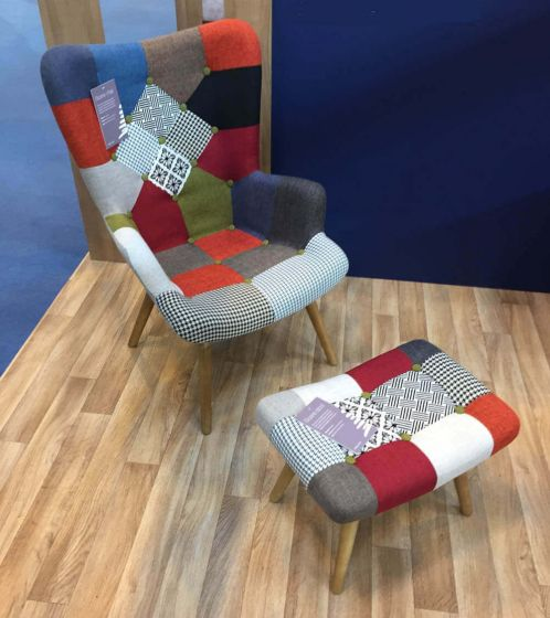 Patchwork Armchair & Stool