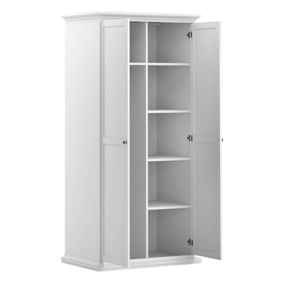 Paris Double Wardrobe White, Grey or Walnut