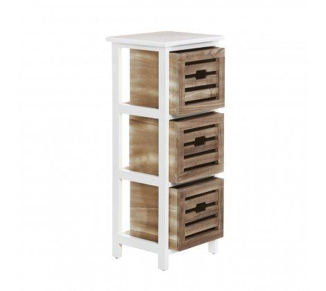 Paulownia Natural Bathroom 3 Drawer Chest