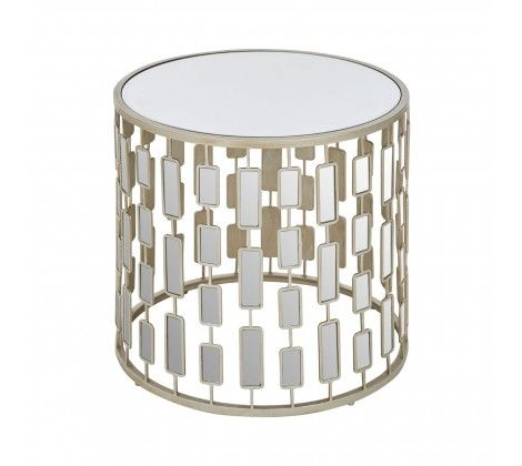 Pepe Silver Round Side Table