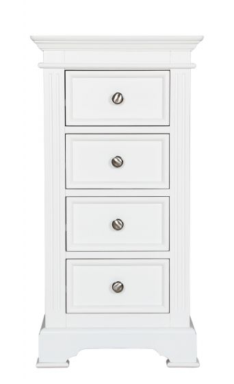 Pine White Painted 4 Drawer Wellington