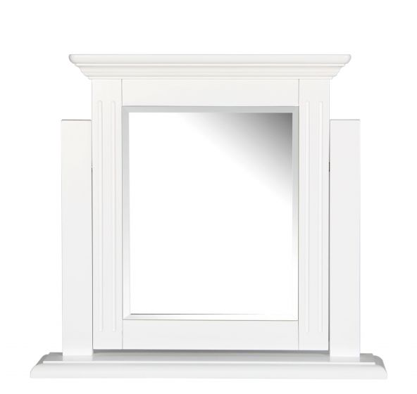 Pine White Painted Trinket Mirror