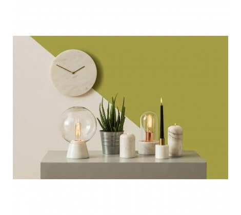 Premium White Marble Globe Table Lamp