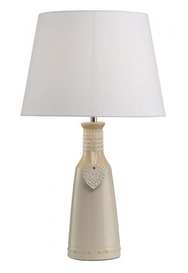 Priscilla Cream Table Lamp