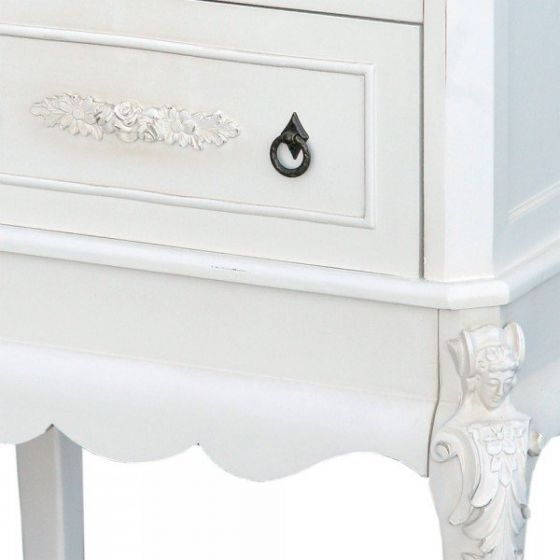 Provence Antique White Tall Bedside
