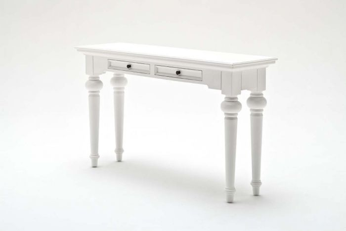 Provence White Mahogany Console Table