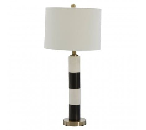 Ragna Black Marble Table Lamp
