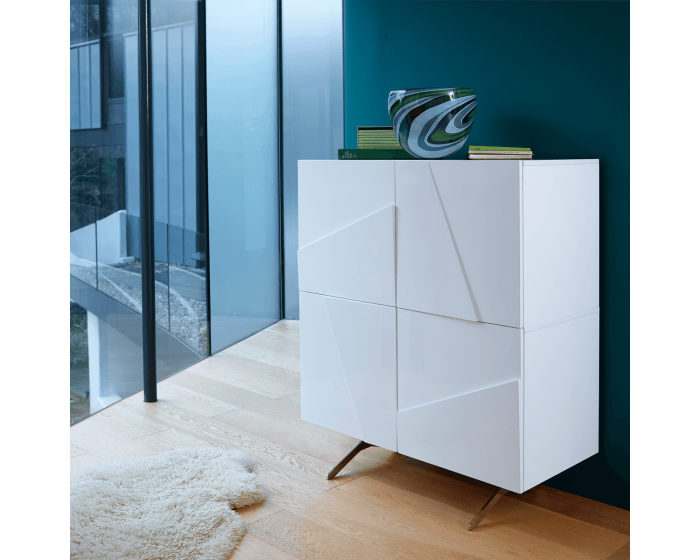 Retro Grove White Square Sideboard