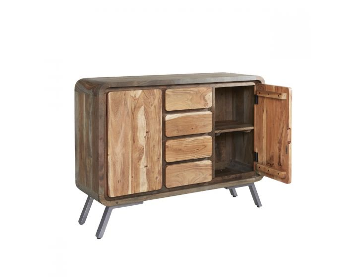 Reclaimed Iron and Wood Sideboard
