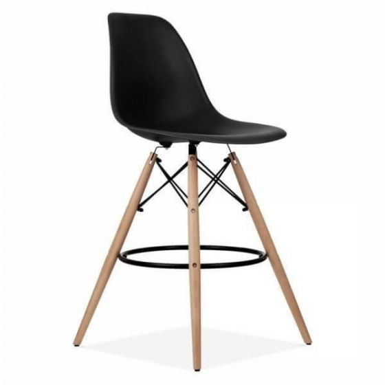 Retro Designer Style Wooden Bar Stools