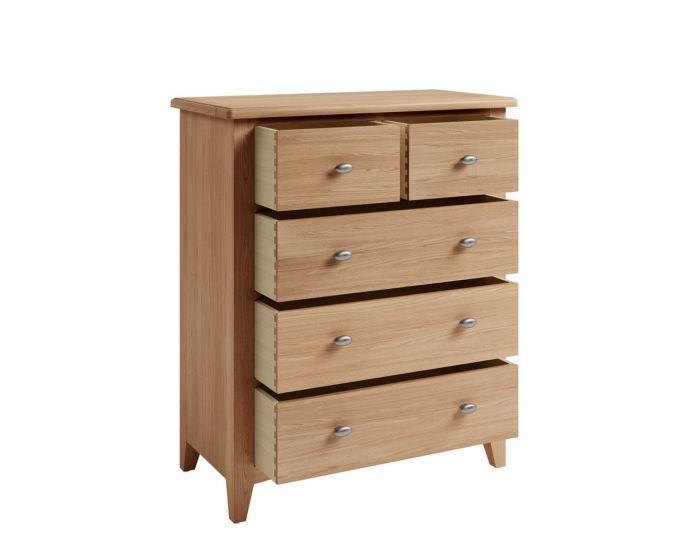 Richtown Oak 2 Over 3 Chest of Drawers