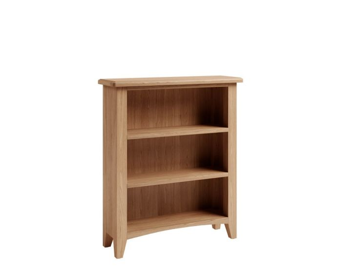 Richtown Oak Small Wide Bookcase