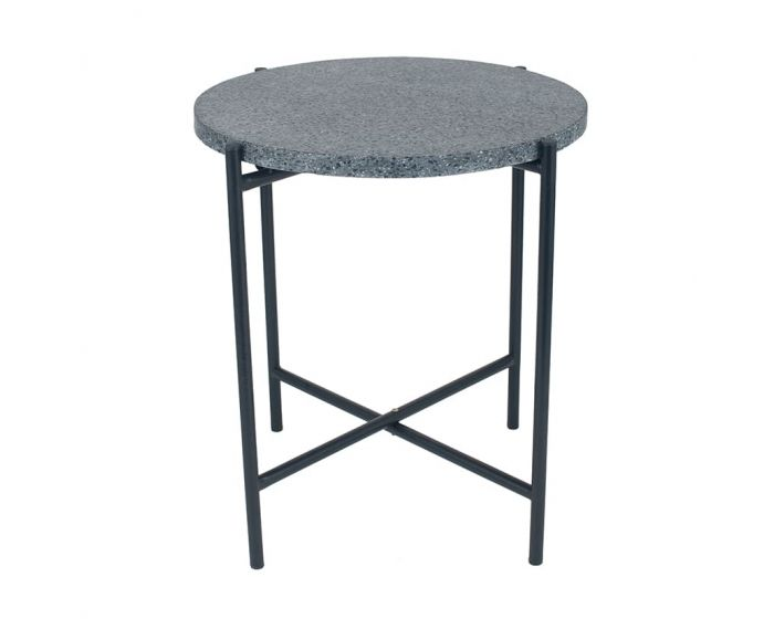Romeo White or Black Terrazzo Side Table in Large and Small