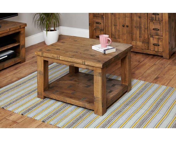 Rustic Oak Open Coffee Table