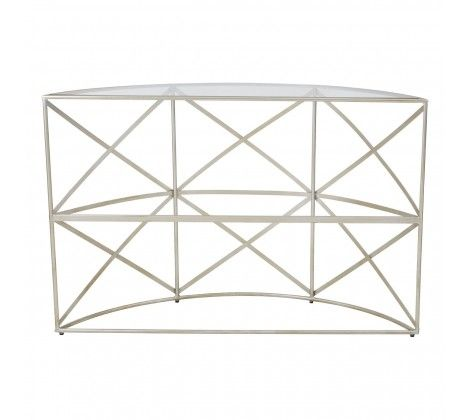 Ruby Silver Leaf Console Table