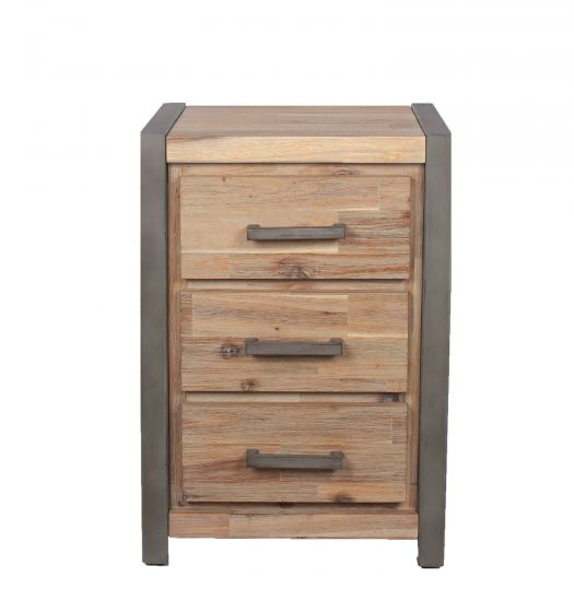 Salvatore Acacia Wood Bedside Chest
