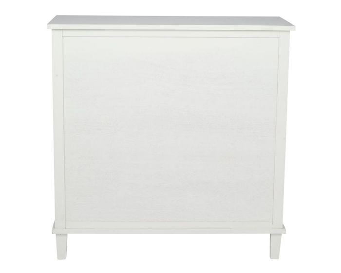 Sara Ivory Mirrored Pine 2 Drawer Sideboard