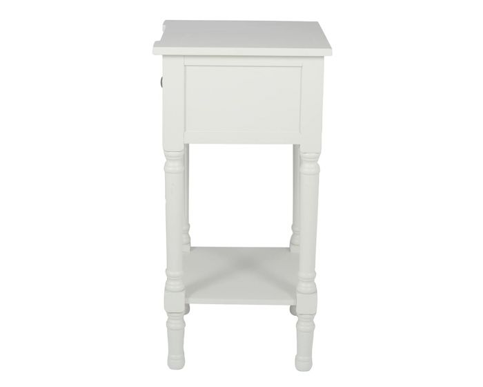 Sara Ivory Mirrored Pine Side Table