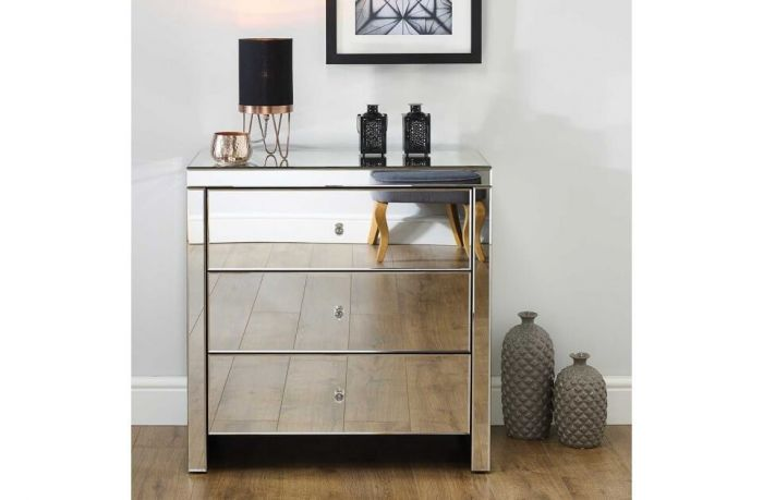 Savannah Mirrored Chest of Drawers