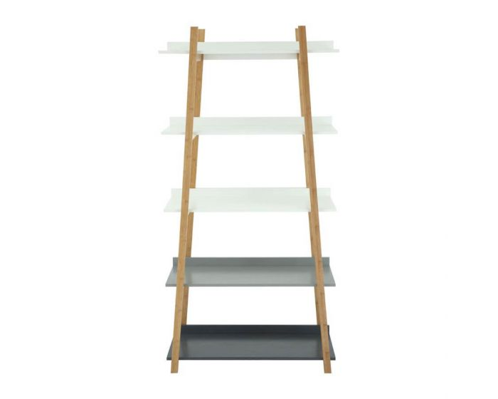 Scandinavian Inspired Bamboo Multi Shelf Unit