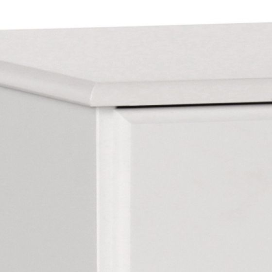 Scandi 3 Drawer Bedside in White