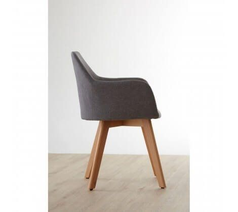 Scandi Stockholm Grey and Wood Chair