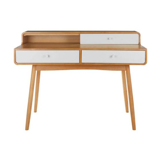 Scandinavian Inspired Oak Veneer Console/Desk