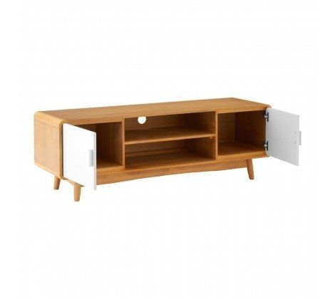 Scandinavian Inspired Oak Veneer TV Unit