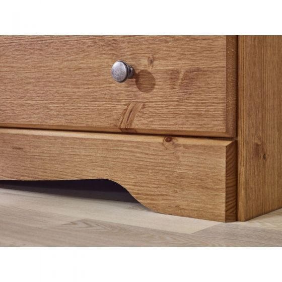 Scandinavian Pine 3 Drawer Bedside Cabinet