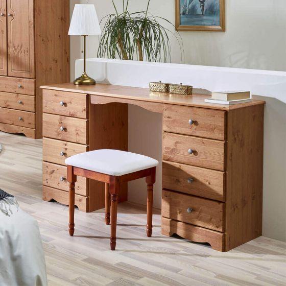 Scandinavian Pine Dressing Table Set