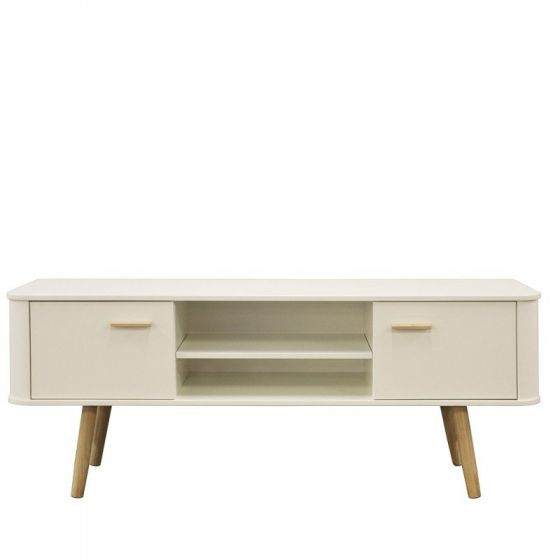 Scandinavian Style White Wide TV Cabinet