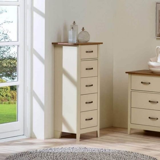 Shaker Style 5 Drawer Tallboys