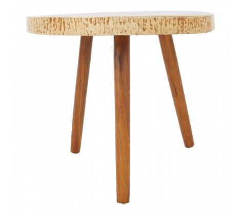 Shakir Sonokeling Wood Top Side Table