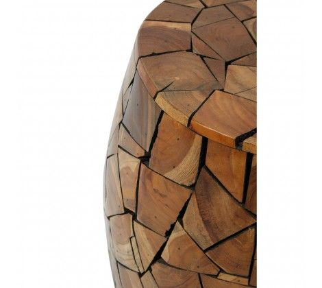 Shakir Teak Wood Stool/Side Table