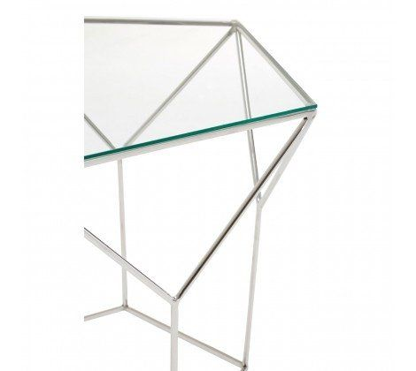 Shazaar Steel Pentagonal Coffee Table