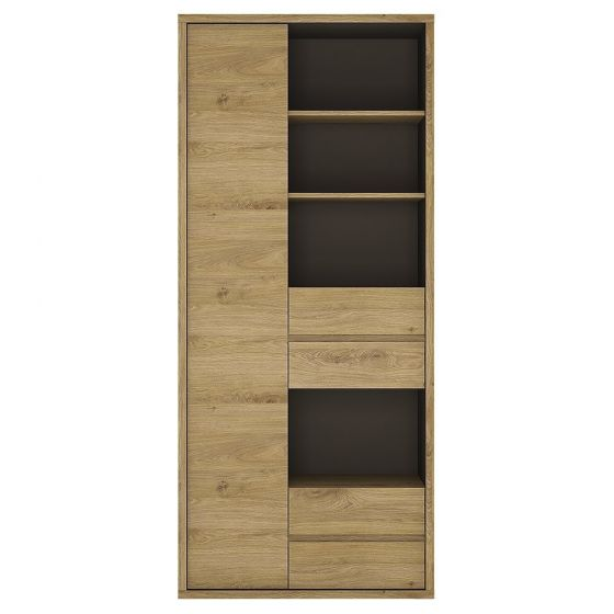 Shetland Wide 1 Door 4 Drawer Bookcase