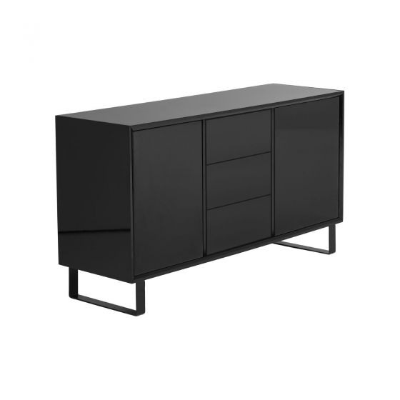 Sideboard Black High Gloss By Premier Home