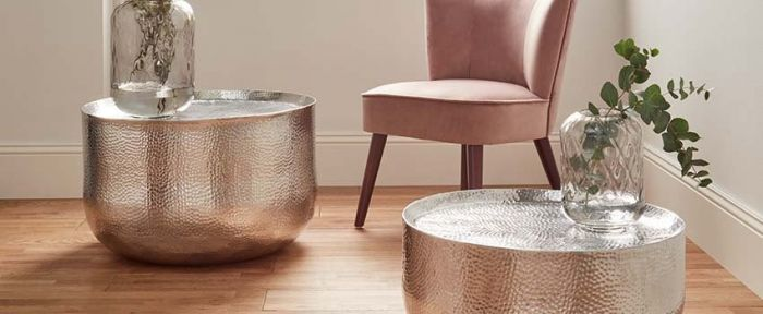 Simona Hammered Aluminium Coffee Table
