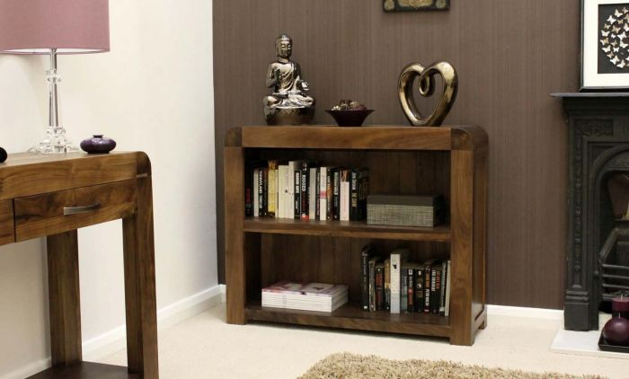 Solid Walnut Low Bookcase