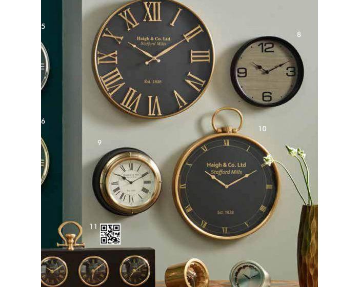 Stafford Mill Brass Wall Clock