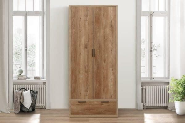 Stonehouse Rustic Effect Double Wardrobe