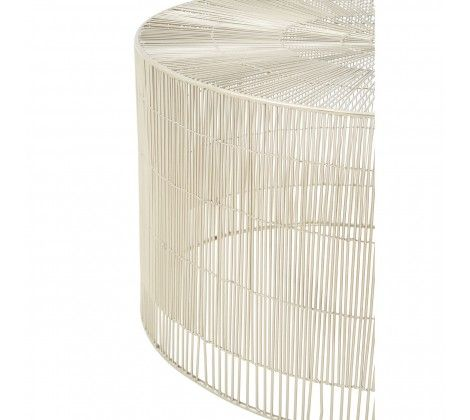 Templar Cage-Shaped Silver Small Round Table