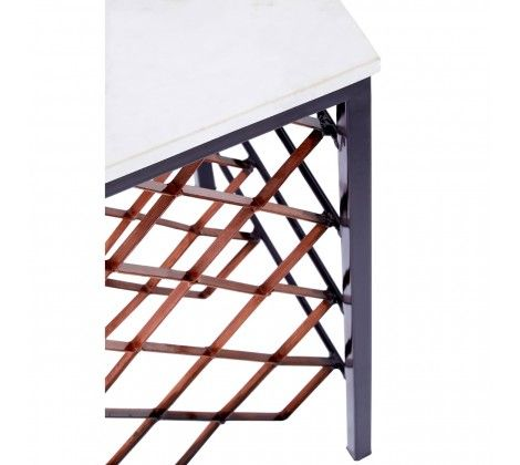 Templar White Marble and Iron Table