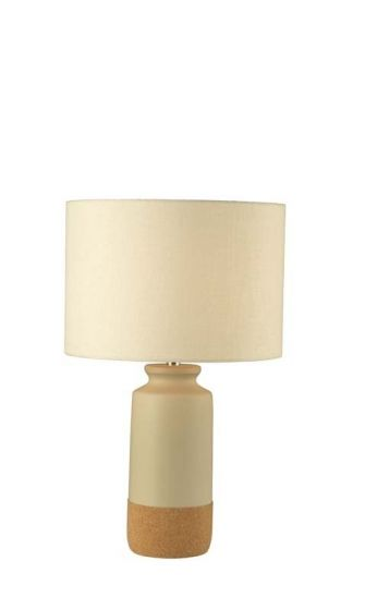 Tenby Cork and Ceramic Table Lamp