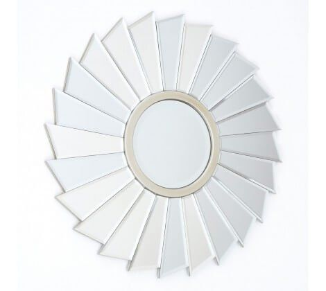 Tiffany Champagne Round Wall Mirror