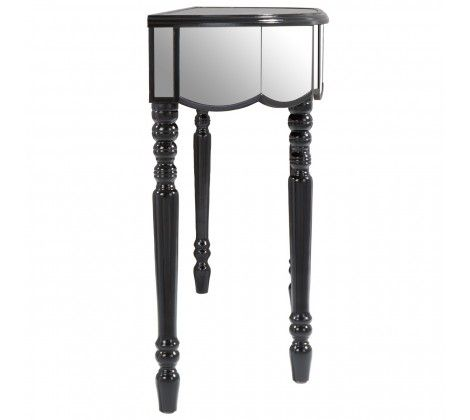 Tiffany Silver  3 Drawer Mirrored Console Table