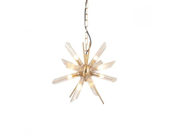 Tonia Glass and Gold Metal Starburst Pendant