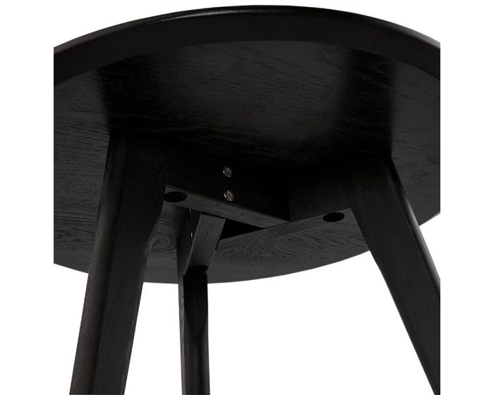 Torsten Black Wood Set of 2 Round Side Tables