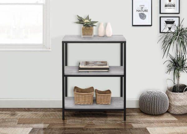 Townville Concrete Effect 3 Tier Bookcase