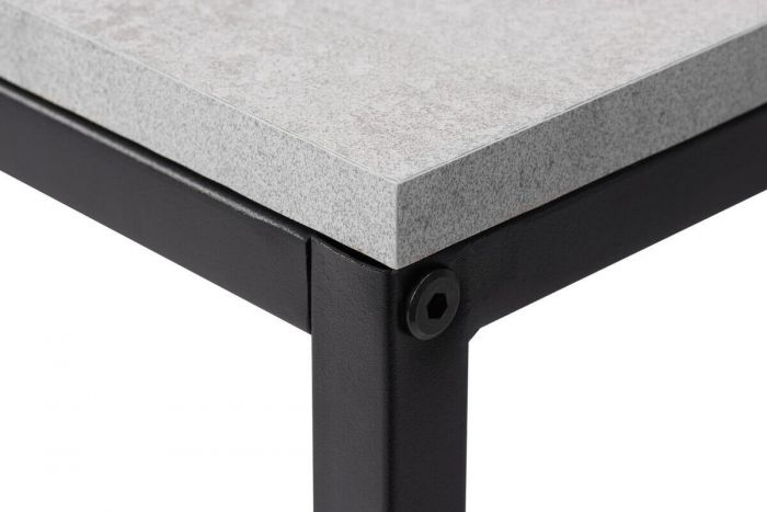 Townville Concrete Effect 3 Drawer Shelving Unit